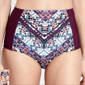 Athleta Marrakesh High Waisted Swim Bottoms, M